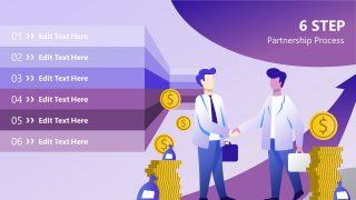 PowerPoint Agenda Presentation for Business Partnership
