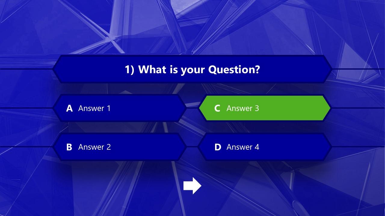 Editable Quizzes Template Multiple Choice