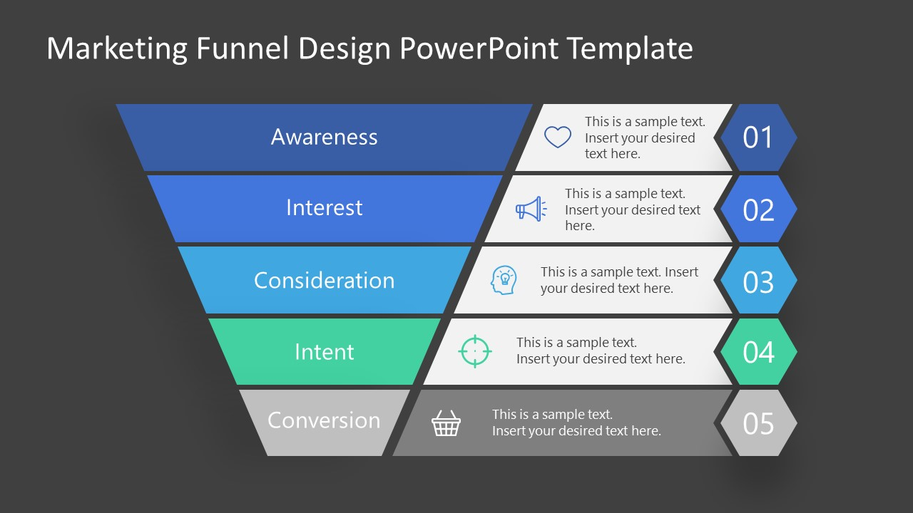 Intent Stage Marketing Funnel Template