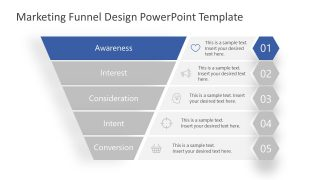 PowerPoint Marketing Funnel Awareness Level