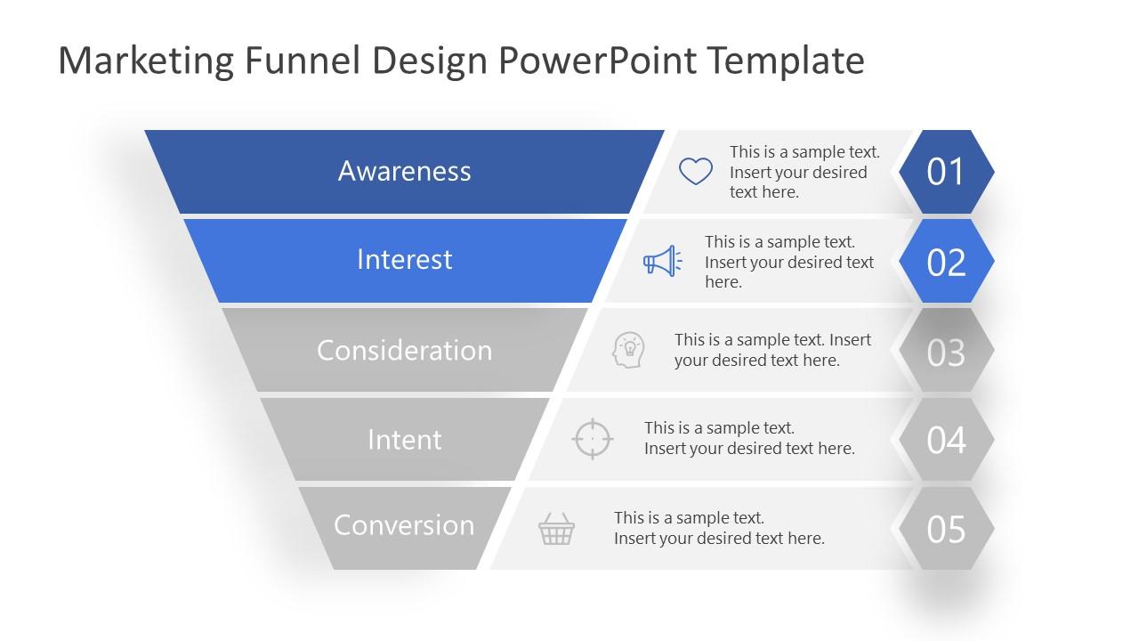 PowerPoint Marketing Funnel Interest Level
