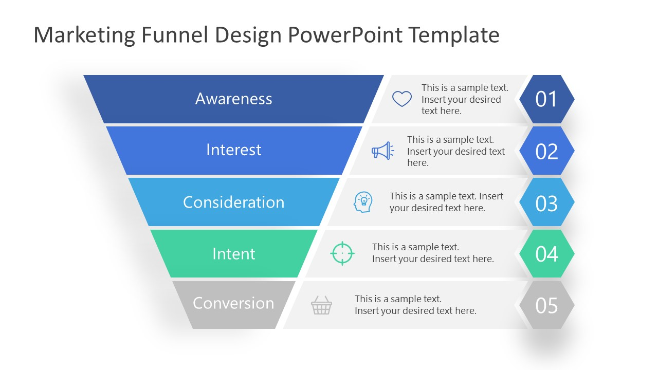 PowerPoint Marketing Funnel Intent Level
