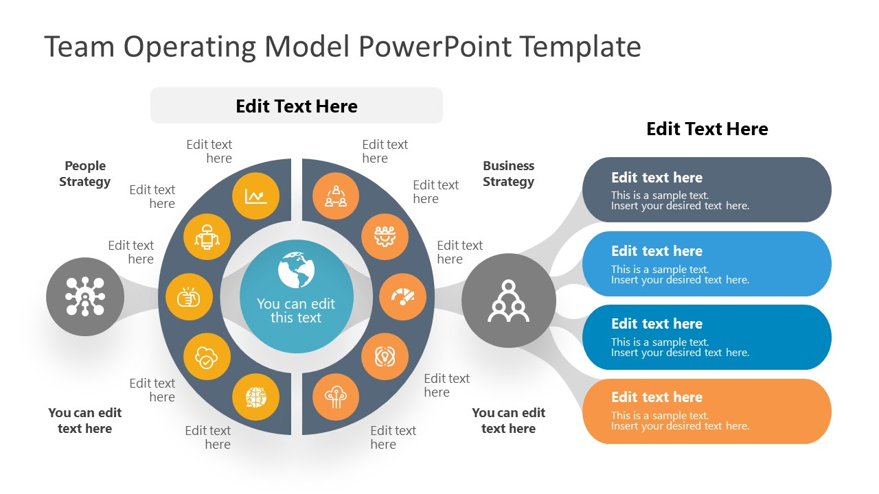 Team Operating Model Slide for PowerPoint with White Background