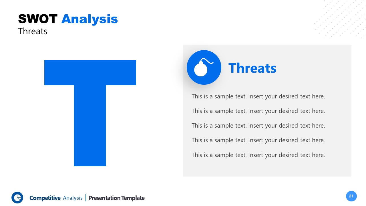 PowerPoint Threats Template Competitors Analysis