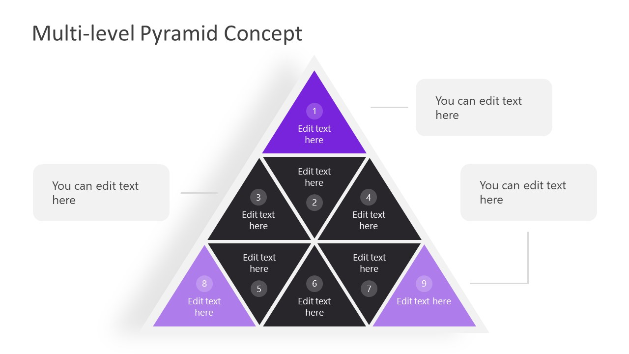 Wheel in Pyramid Diagra Template