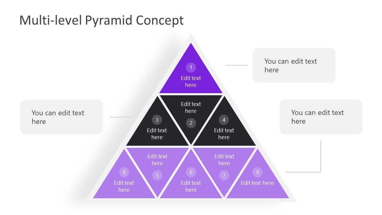 Multi-Level Pyramid PowerPoint Diagram