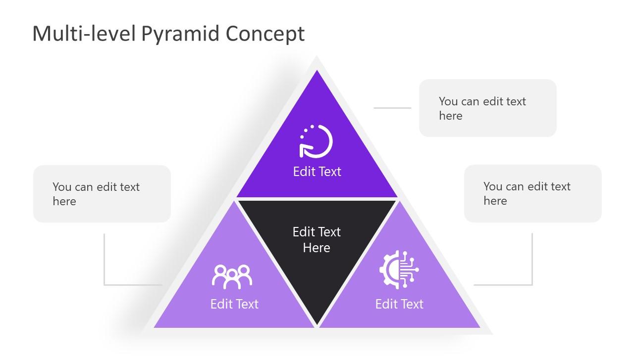 Pyramid Template Diagram Multi-Level Design