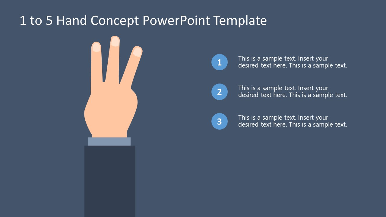 Finger Counting Bullet Point Three