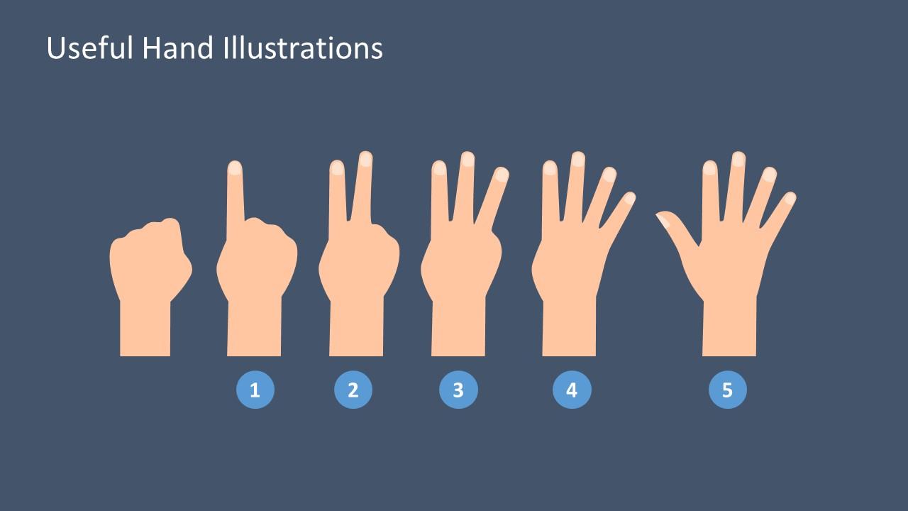 Presentation Shapes of Hand Signals PPT