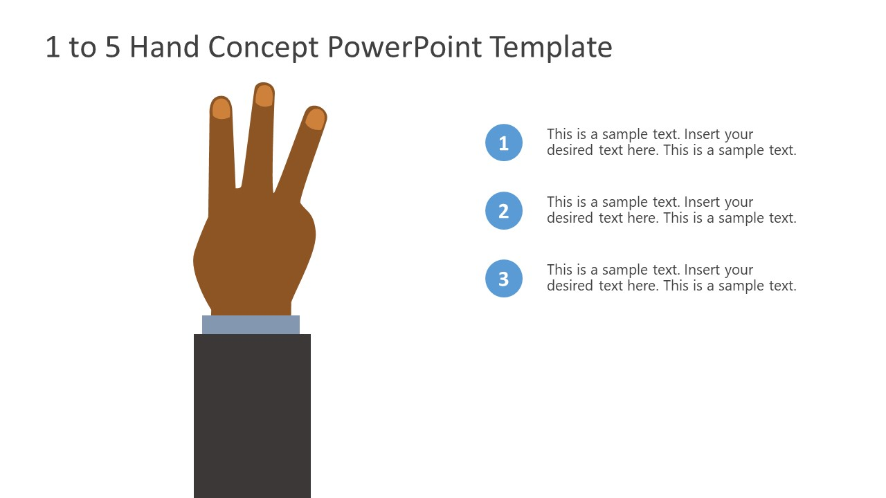 PowerPoint Bullet Point 3 Finger Counting