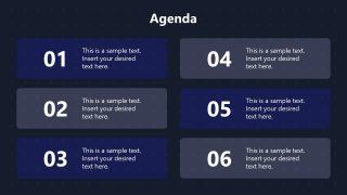 Agenda PowerPoint Technology Theme Template