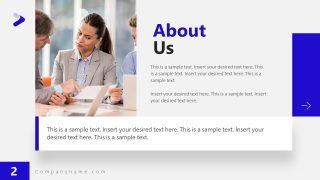 About Us Slide Modern PowerPoint Presentation Theme