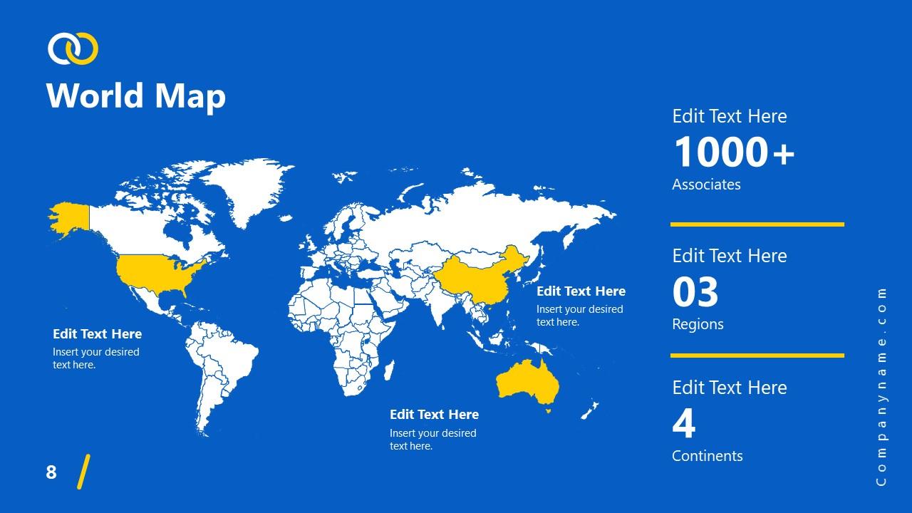 PowerPoint Theme Worldmap Impactful Template