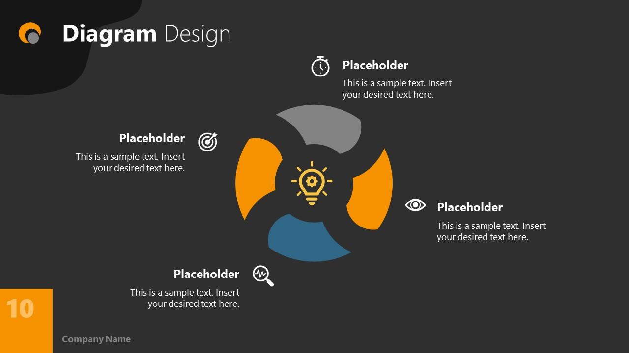 Dark PowerPoint Theme for Diagram Slide