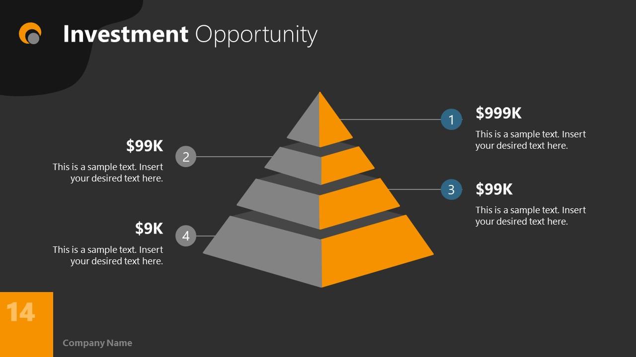 Dark PowerPoint Theme for Investment Slide