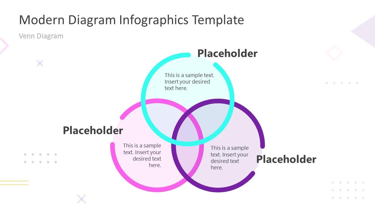 PPT Modern Infographic Venn Diagram PowerPoint Template