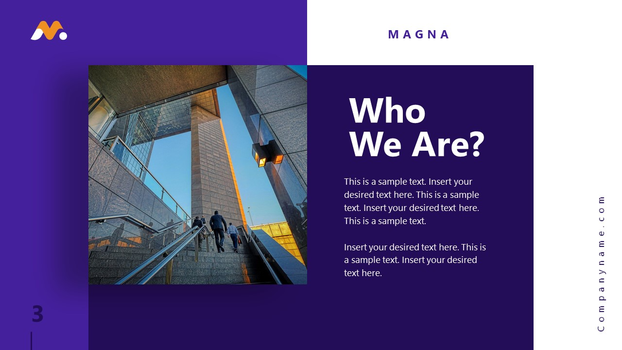 Magna PowerPoint Who We Are Template