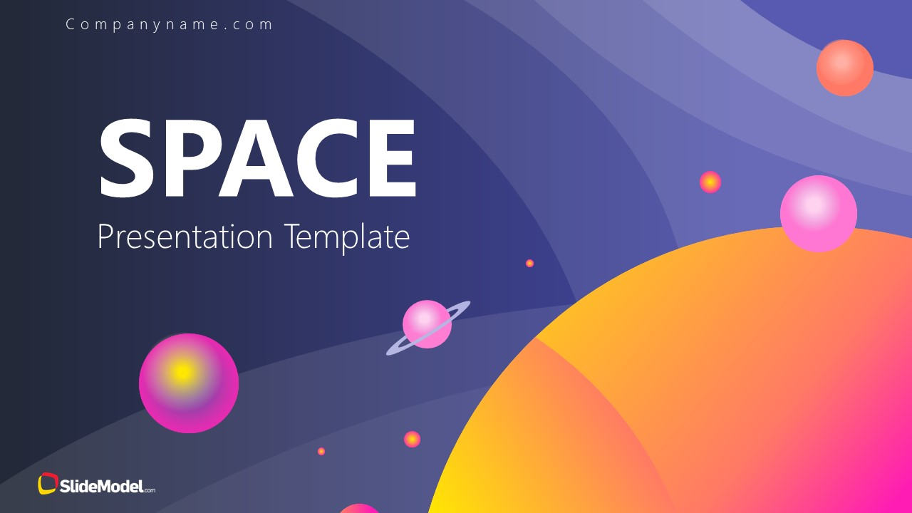 Business PowerPoint Template fo Space