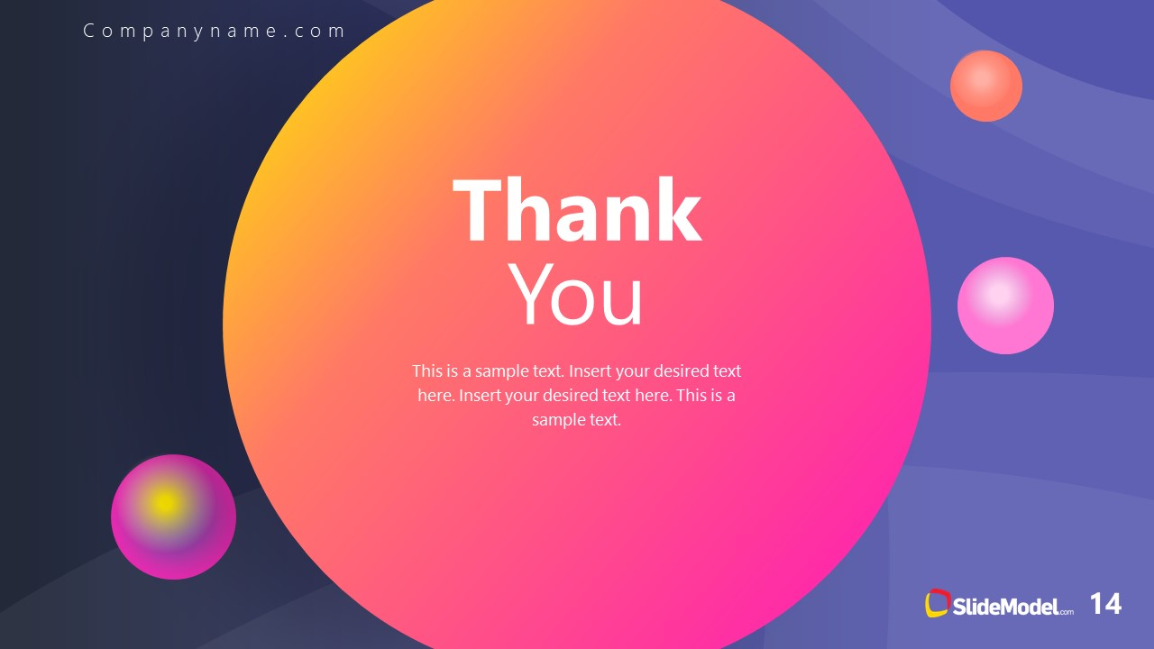 PowerPoint Theme of Outer Space Thank You