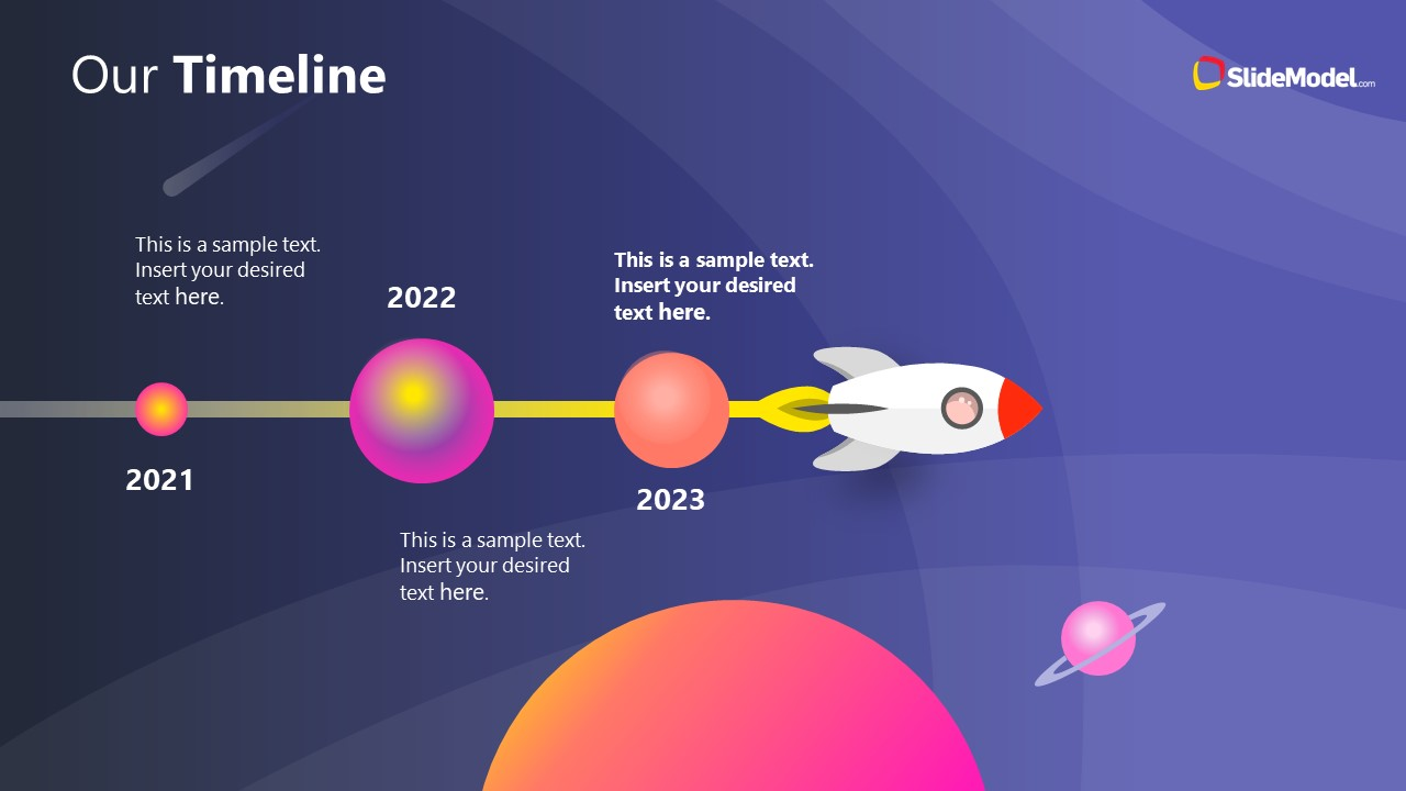 PowerPoint Theme of Outer Space Animated Milestones