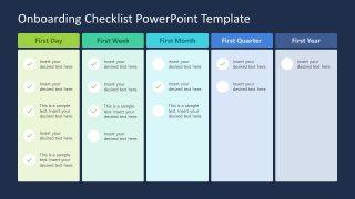 HR Onboarding Checklist Template PPT