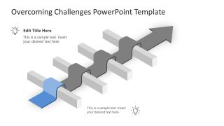 Animated Slide of Overcoming Challenges 1 Road Block