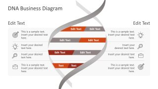 Presentation of DNA Business Diagram Template