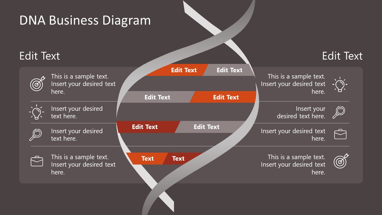 PPT Template DNA Diagram for Corporate Culture