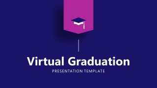Virtual Graduation PowerPoint Cover Slide