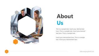 Business Presentation Formal About Us Slide