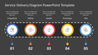 5 Steps Infographic Template Design Thinking