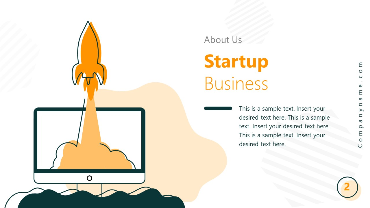 PowerPoint Business Introduction Slide for Startup