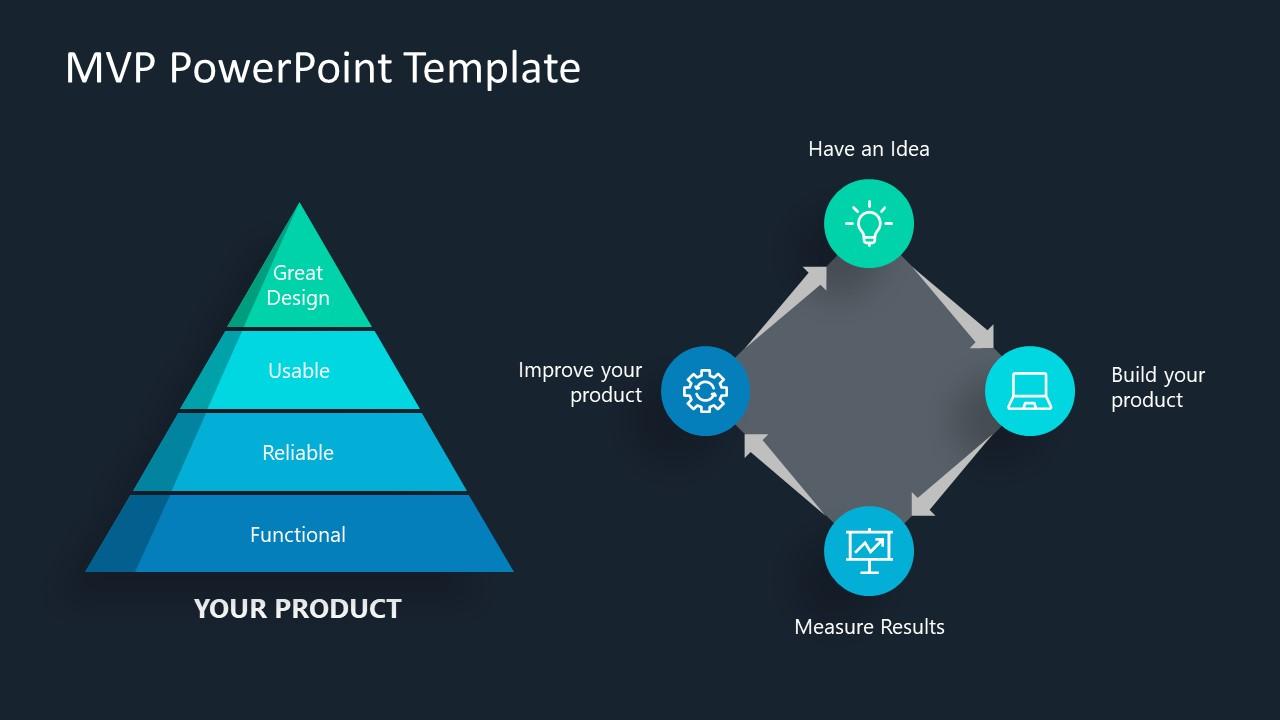 PowerPoint 4 Steps Pyramid Diagram