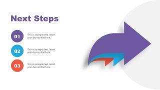 3 Steps Arrow Diagram for Next Steps