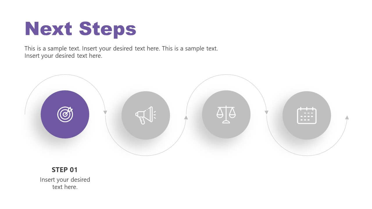 4 Steps Sequence Template Next Step