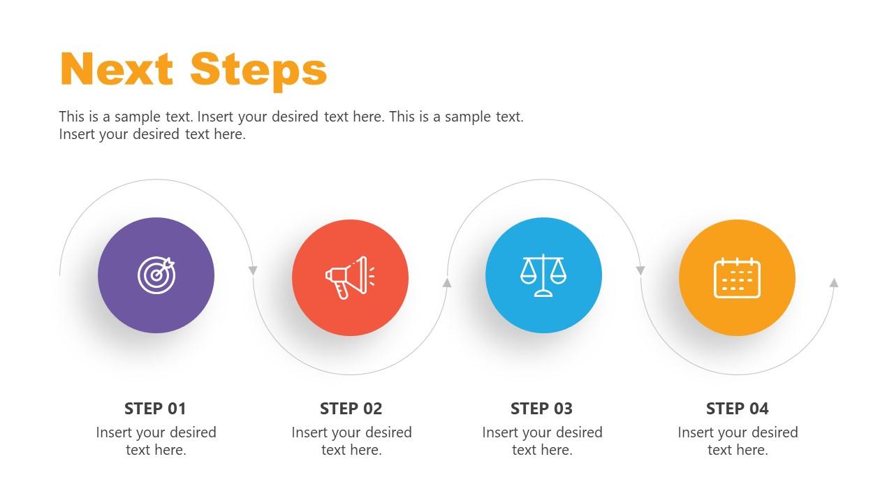 Slide of Horizontal Process Flow Step 4