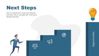 Man Climbing Stairs Next Step Template