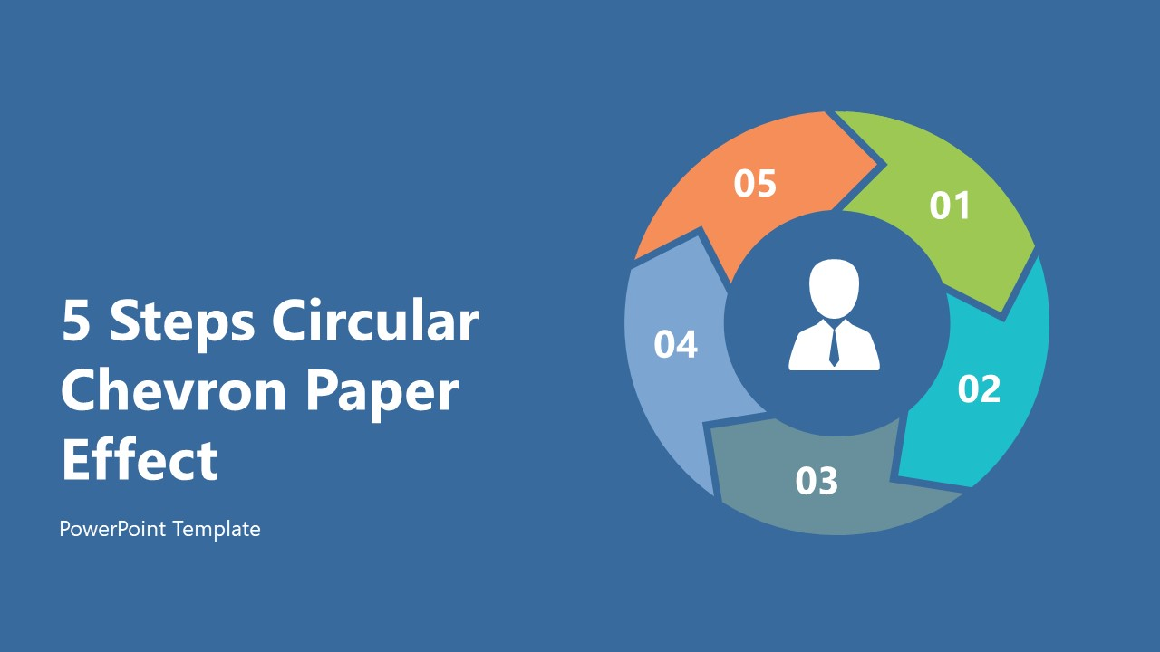 PowerPoint Diagram of Chevron Arrows