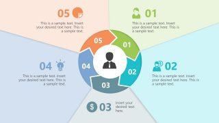 Circular Chevron Paper Effect 5 Steps Template