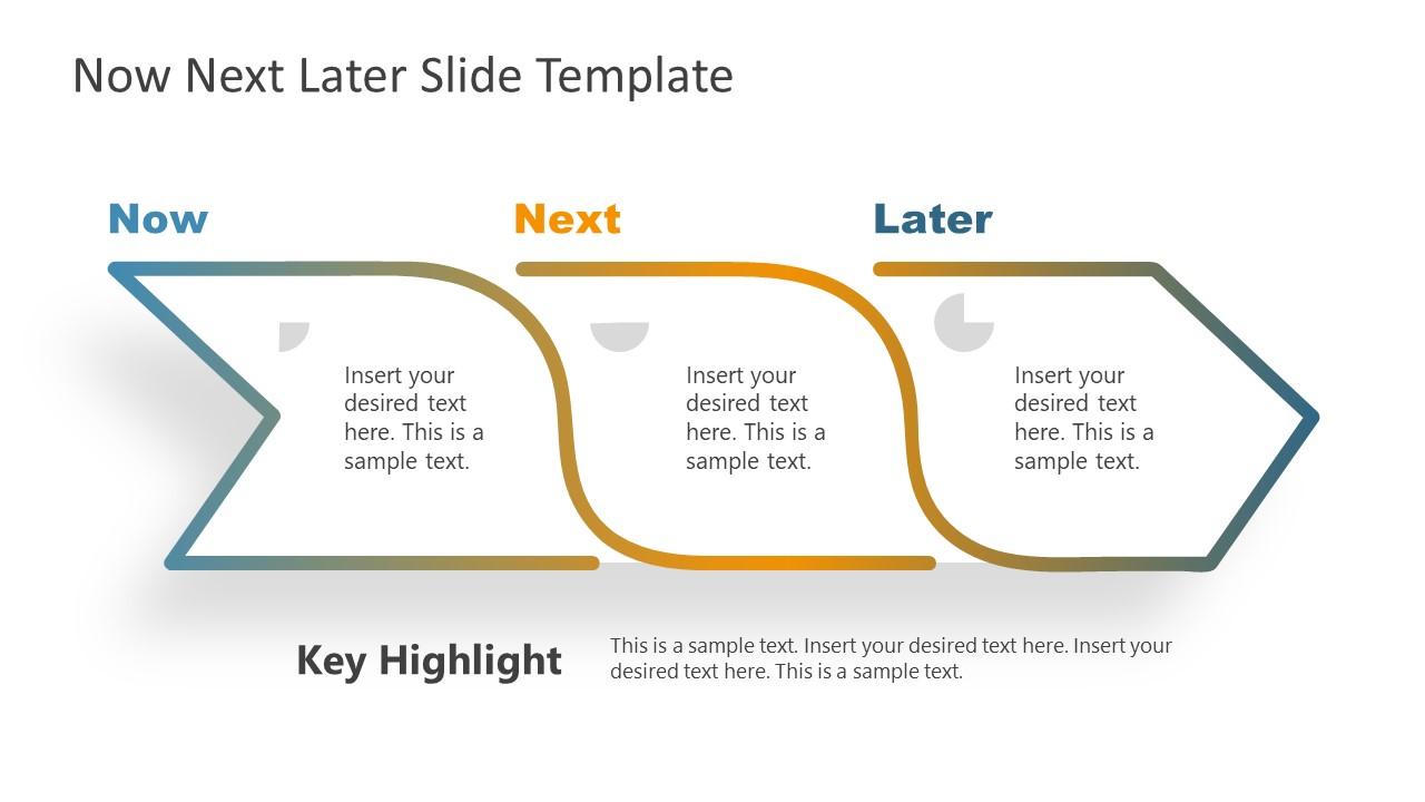 Presentation of 3 Steps Roadmap Arrow Diagram