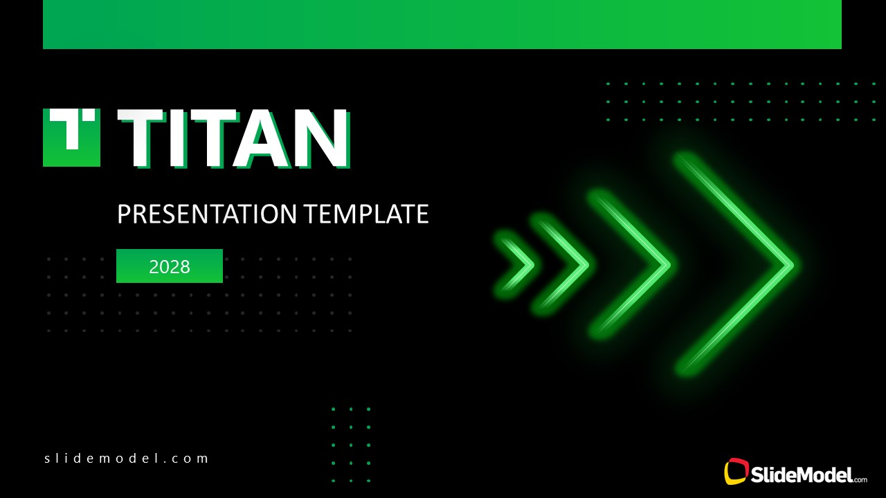 Presentation of Business PowerPoint Titan Theme Cover