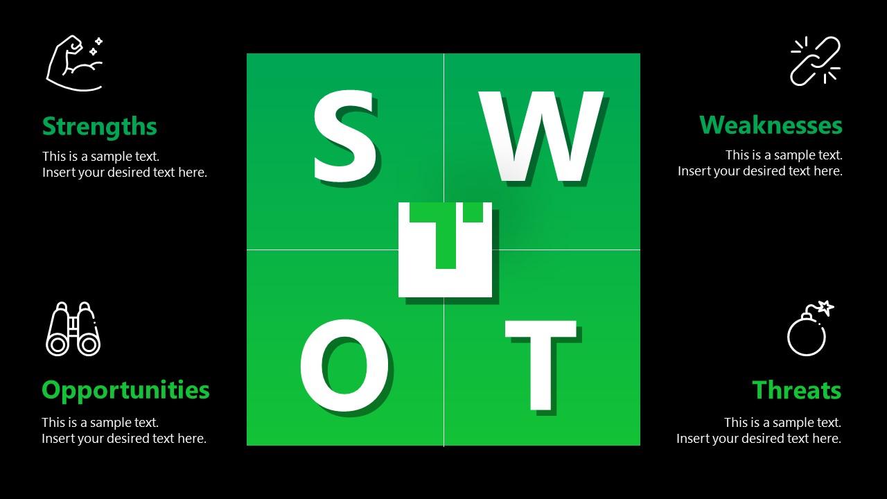Business PowerPoint Template SWOT Titan