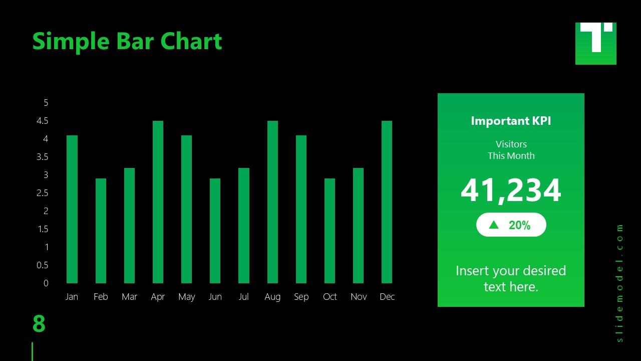 Business PowerPoint Template Bar Chart Titan