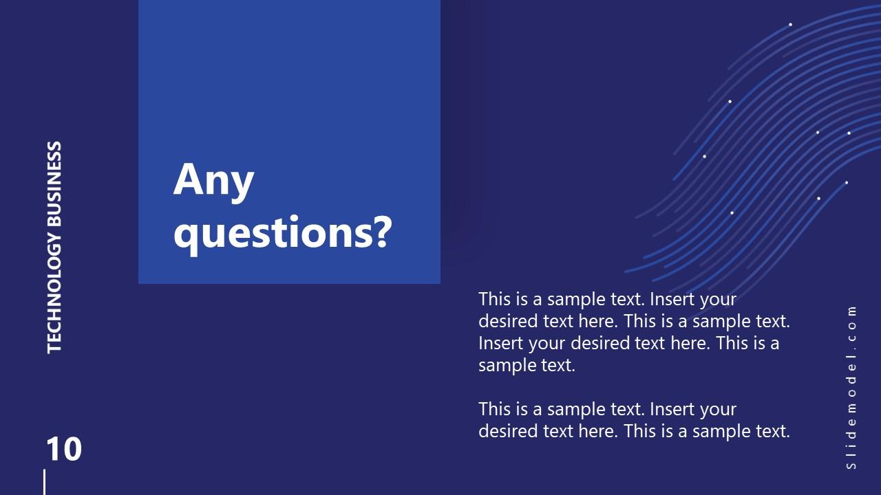 Business PowerPoint Q&A Technology Slide