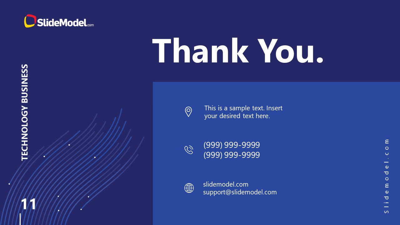 Business PowerPoint Thank You Technology Slide