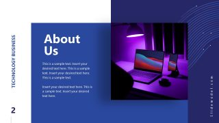 Business PowerPoint About Us Technology Slide