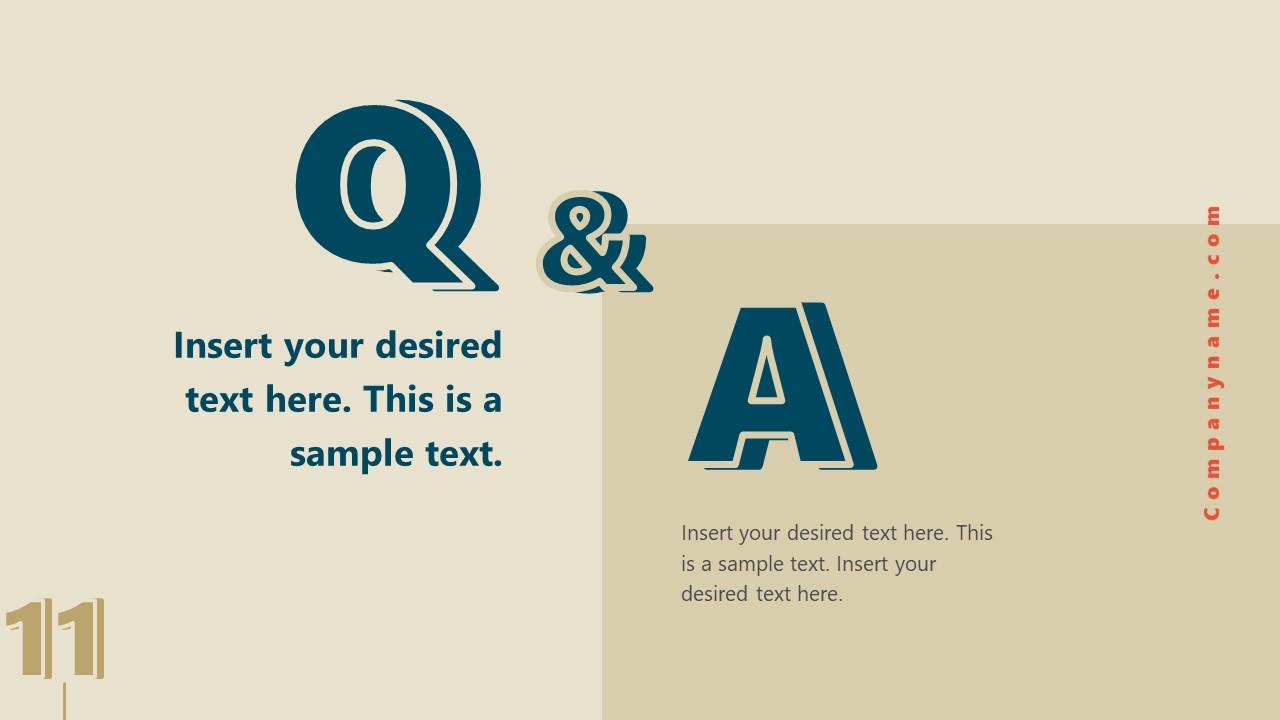 Business Presentation for Retro Q&As SLide
