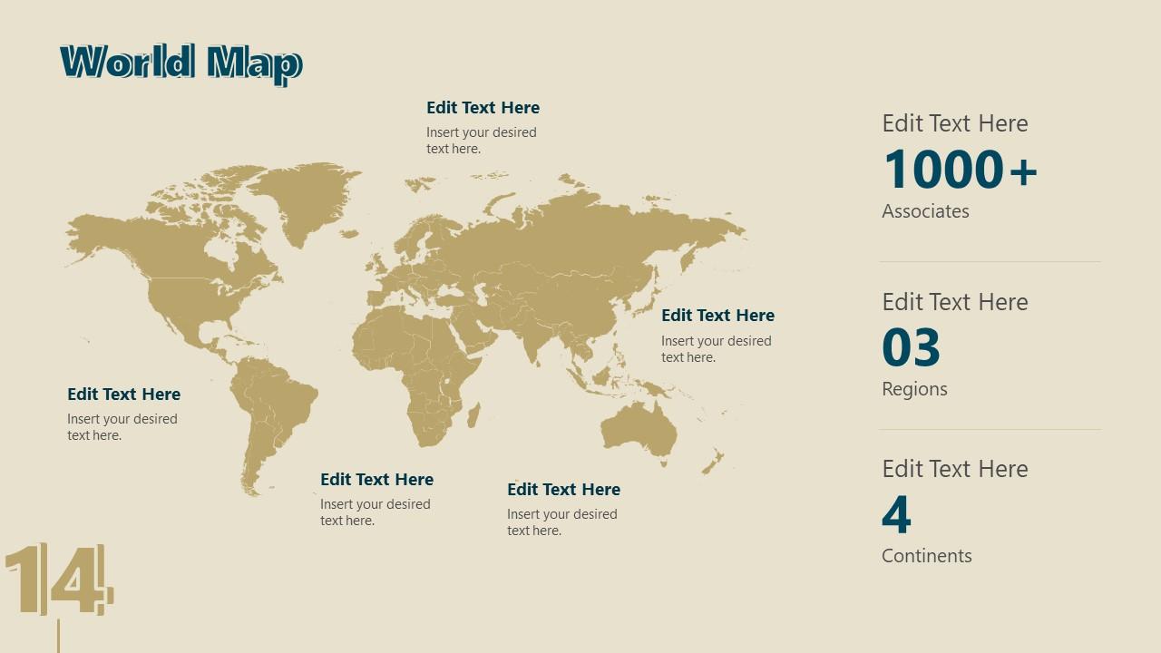 Business Presentation for Retro World Map SLide