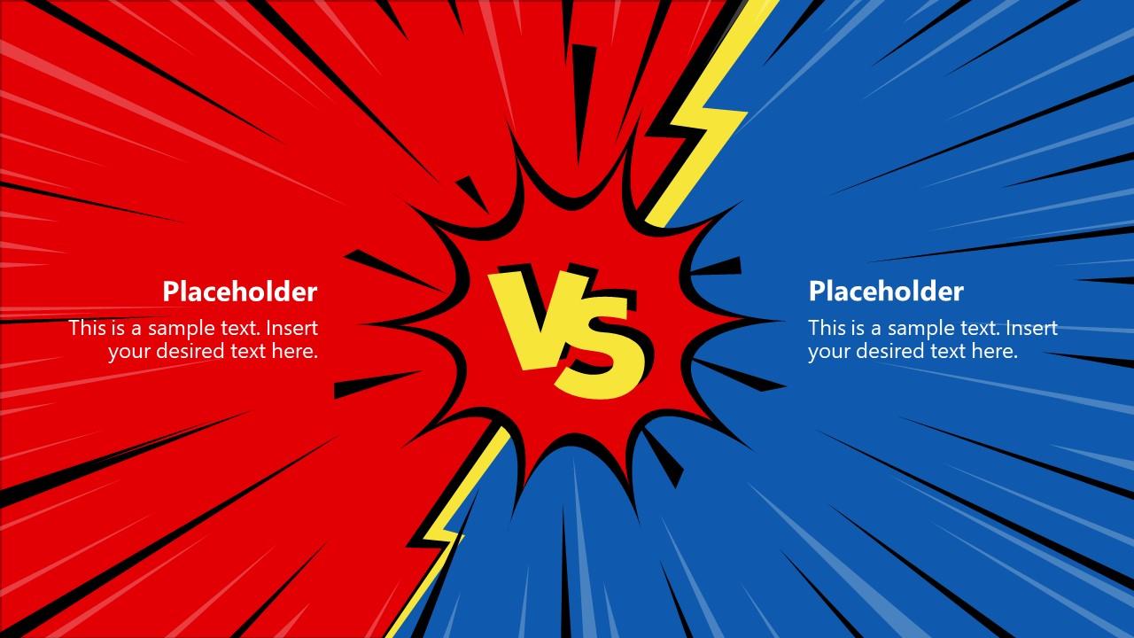 Versus Slide of Comparison PPT