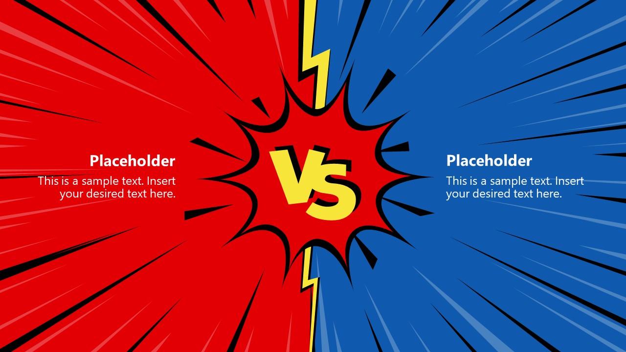 2 Item Versus Slide Comparison Template